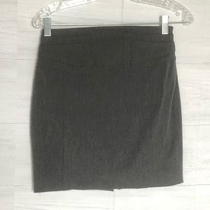 Express career pencil straight skirt grey size o